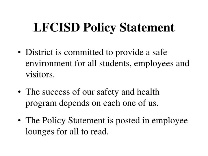 LFCISD Policy Statement