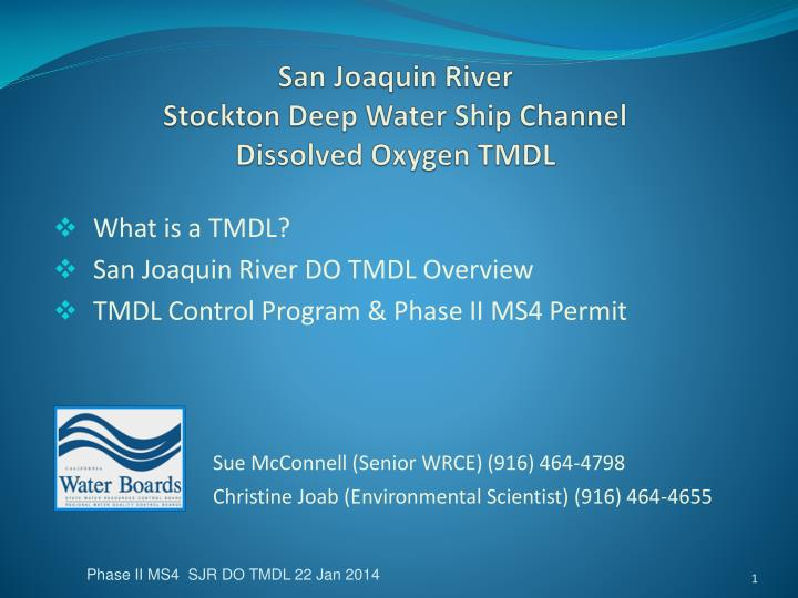 San joaquin river stockton deep water ship channel dissolved oxygen tmdl