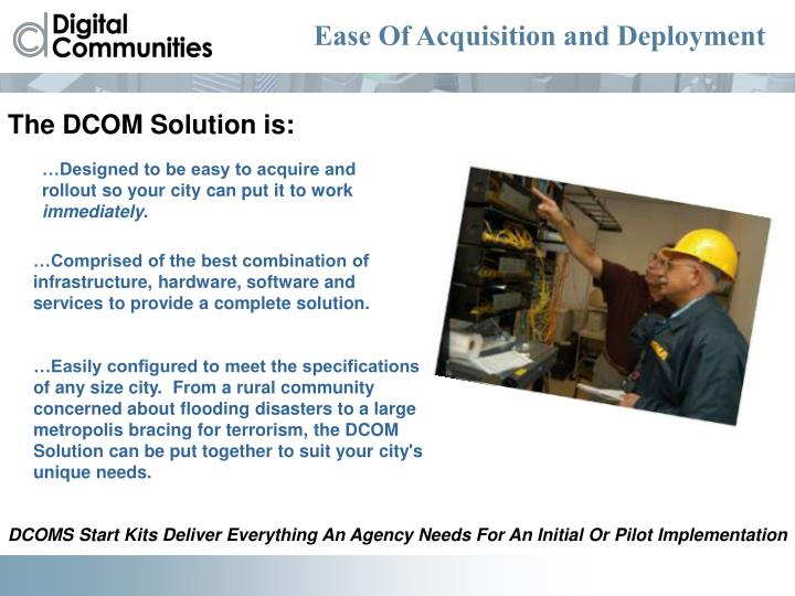 Ease Of Acquisition and Deployment