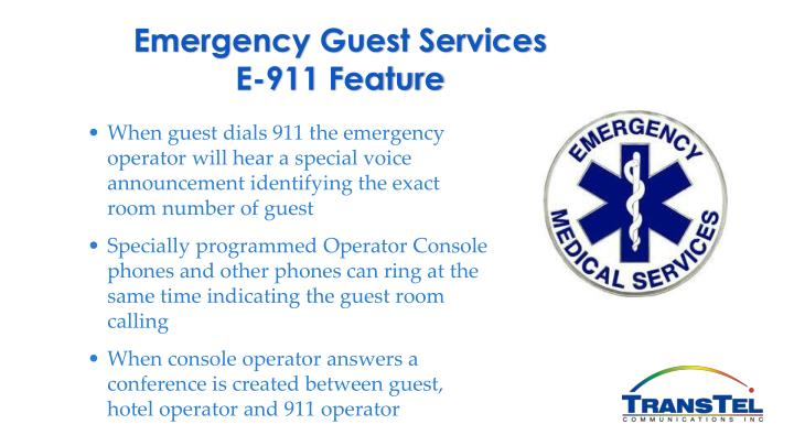 Emergency Guest Services