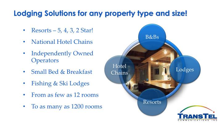 Lodging Solutions for any property type and size!