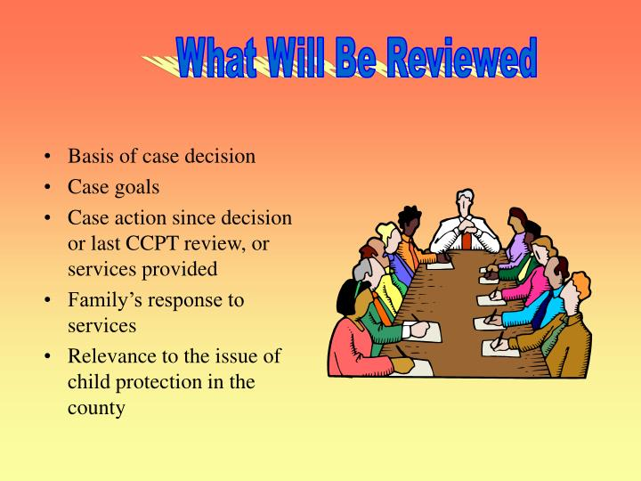 What Will Be Reviewed