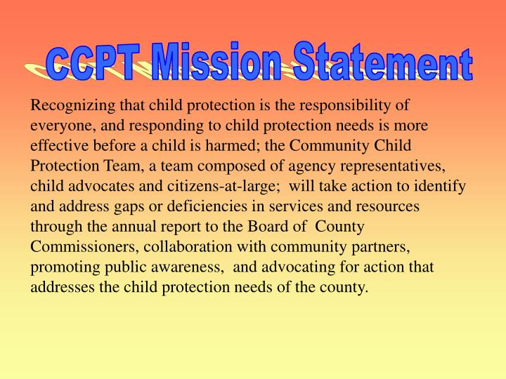 CCPT Mission Statement
