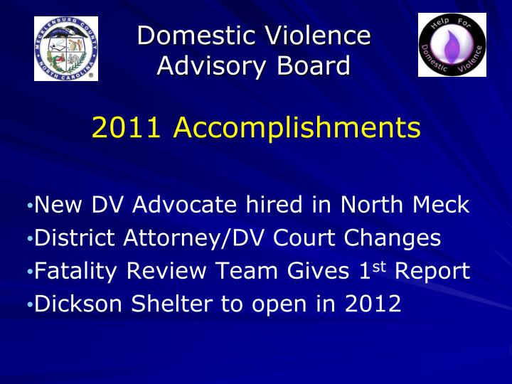 Domestic violence advisory board1