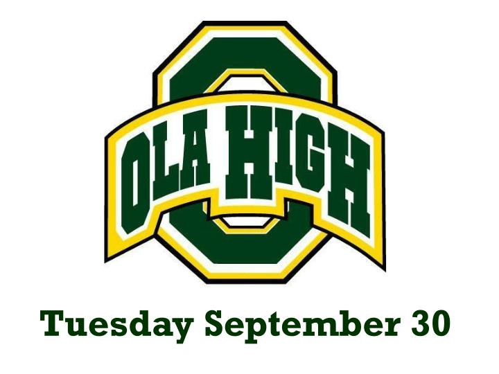Tuesday September 30