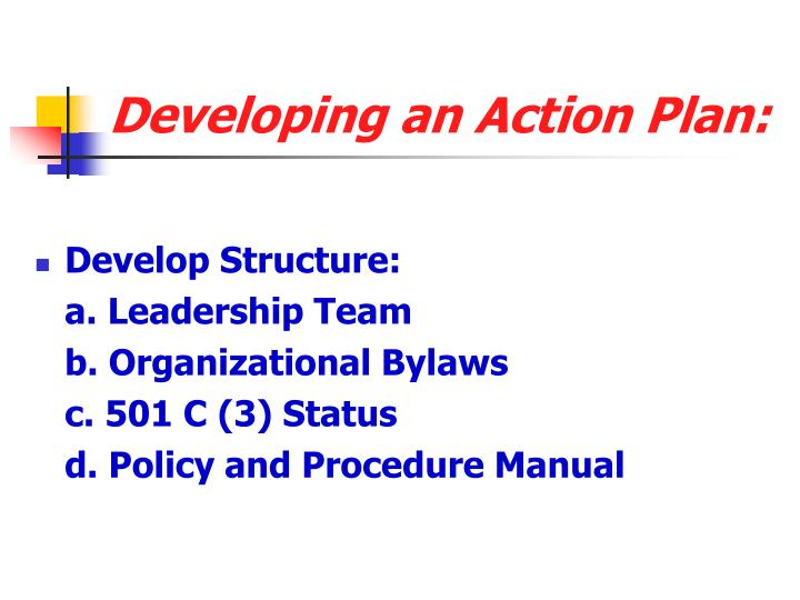 Developing an Action Plan: