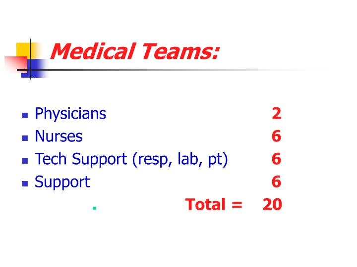 Medical Teams: