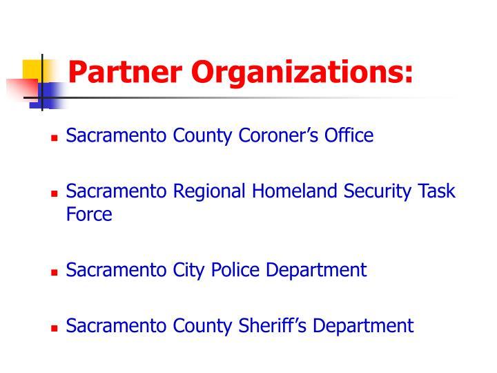 Partner Organizations: