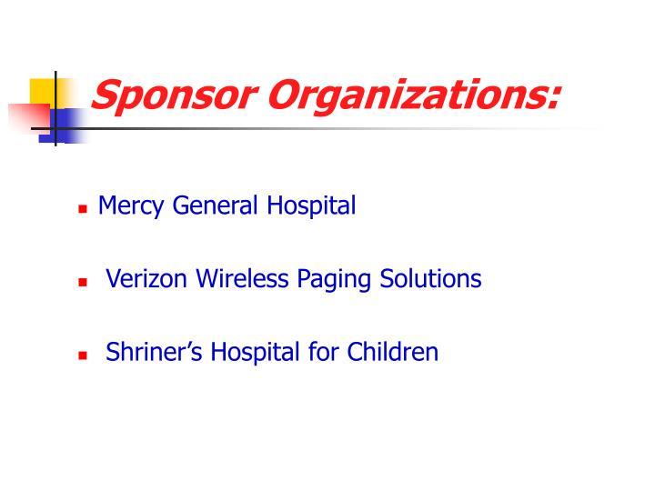 Sponsor Organizations: