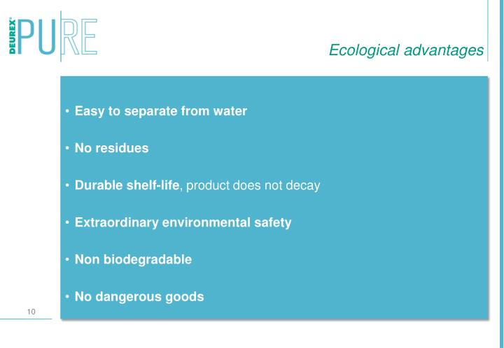 Ecological advantages