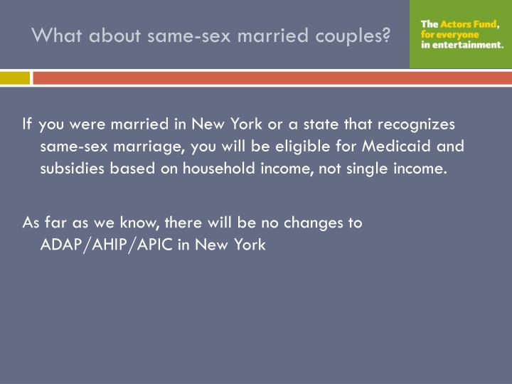 What about same-sex married couples?