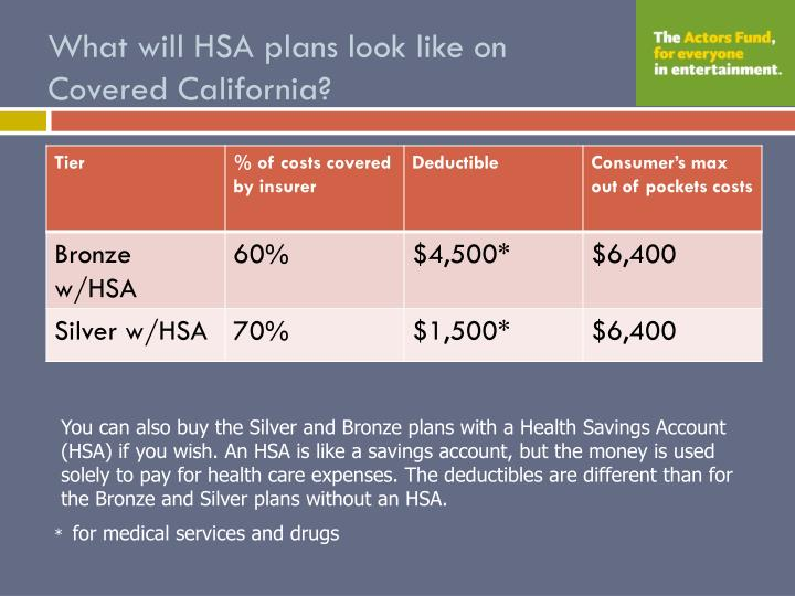 What will HSA plans look like on Covered California?