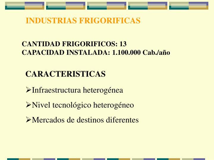 INDUSTRIAS FRIGORIFICAS