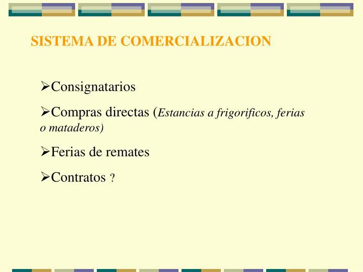 SISTEMA DE COMERCIALIZACION