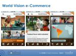 world vision e commerce