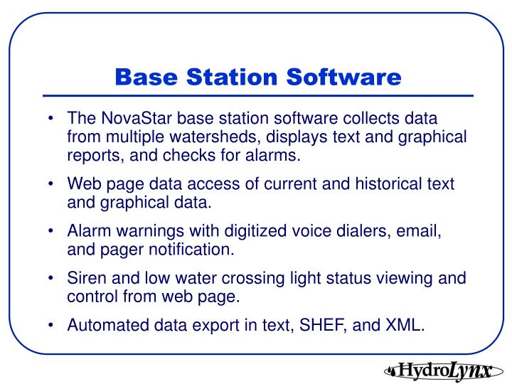 Base Station Software