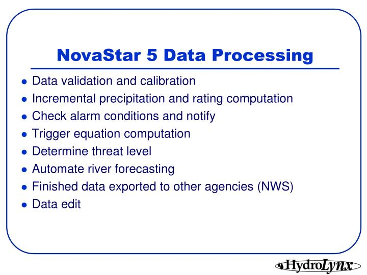 NovaStar 5 Data Processing