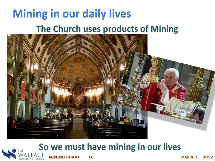 Mining in our daily lives
