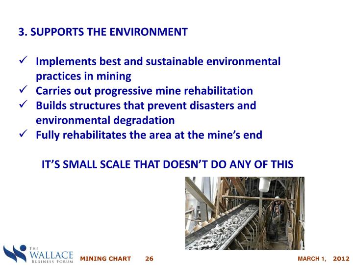 3. SUPPORTS THE ENVIRONMENT