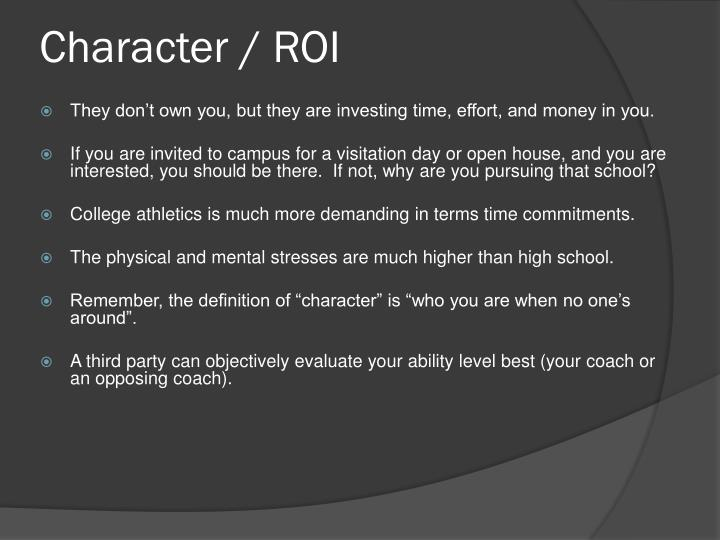 Character / ROI