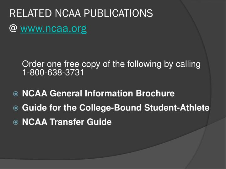 RELATED NCAA PUBLICATIONS