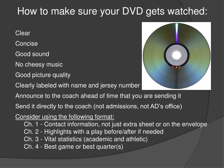 How to make sure your DVD gets watched: