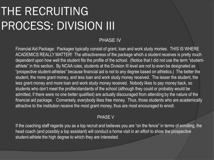 THE RECRUITING