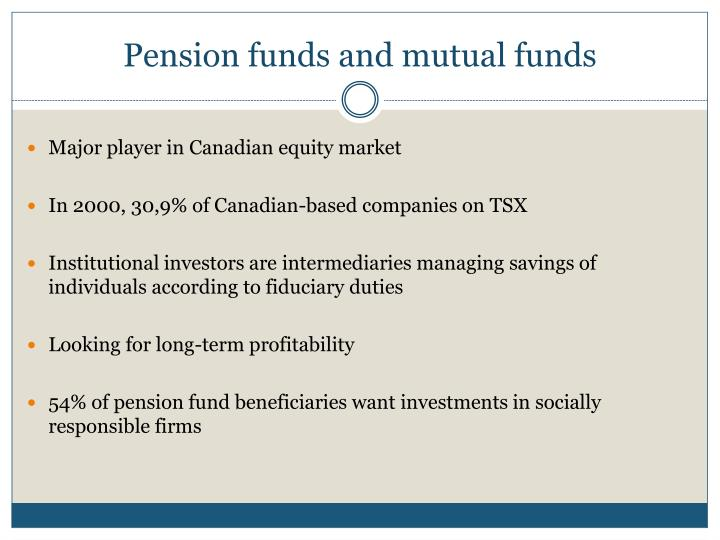 Pension funds and mutual funds