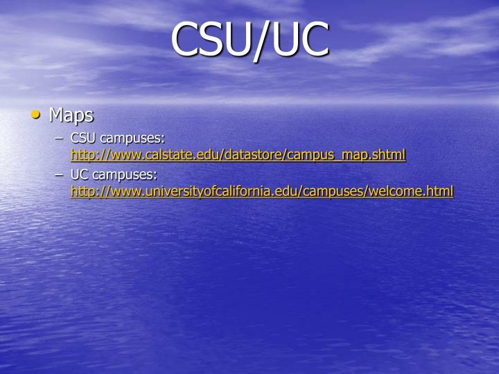 CSU/UC