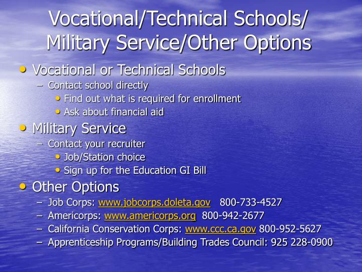 Vocational/Technical Schools/