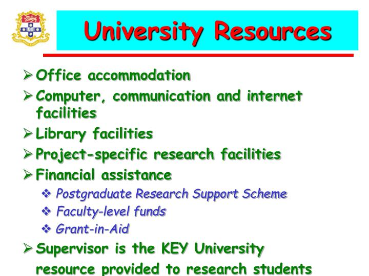 University Resources