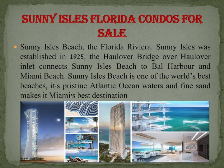 Sunny Isles Florida Condos for sale