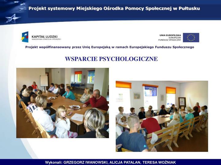 Projekt systemowy Miejskiego Ośrodka Pomocy Społecznej w Pułtusku