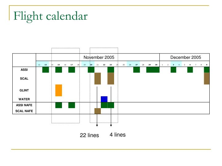Flight calendar