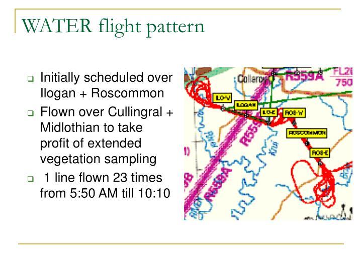 WATER flight pattern