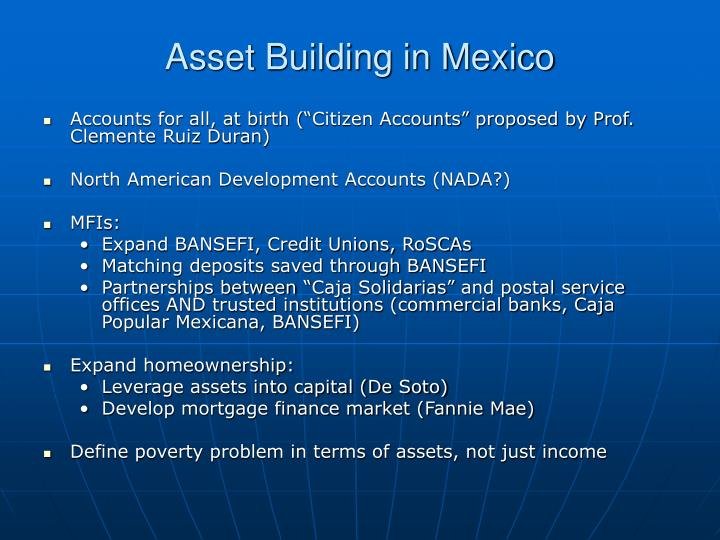 Asset Building in Mexico
