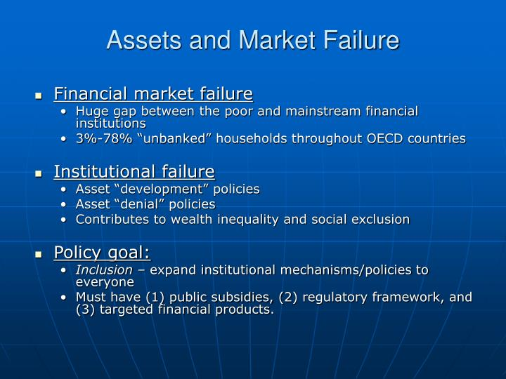 Assets and Market Failure
