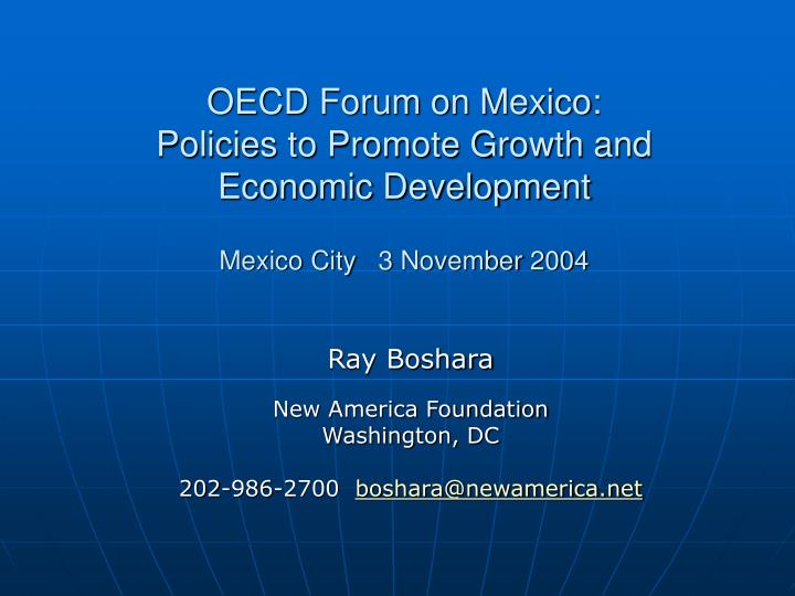 OECD Forum on Mexico: