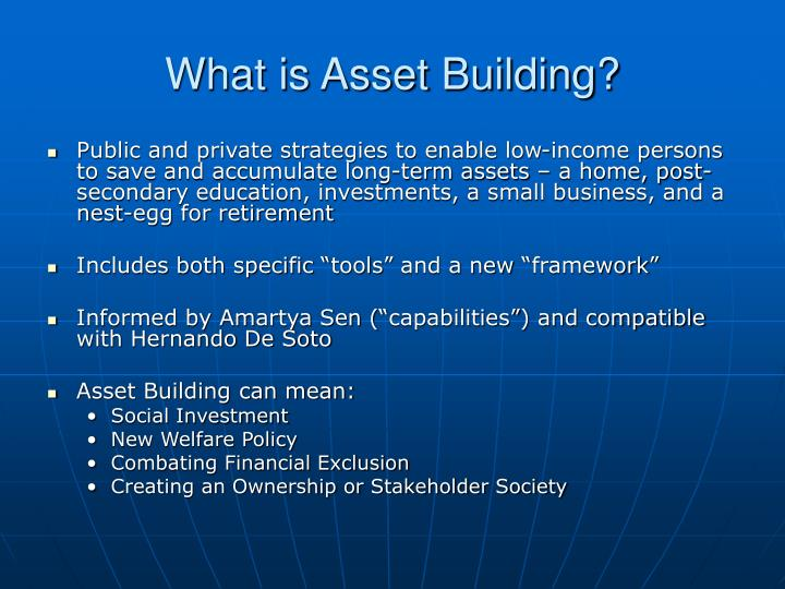 What is Asset Building?