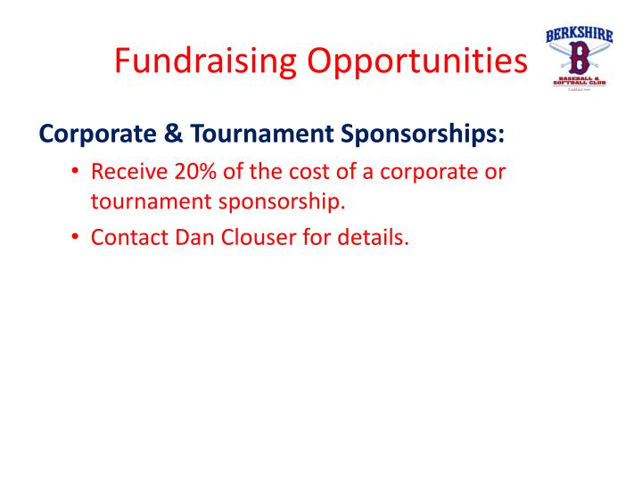 Fundraising Opportunities