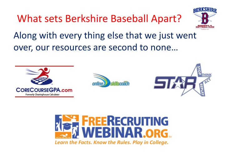What sets Berkshire Baseball Apart?