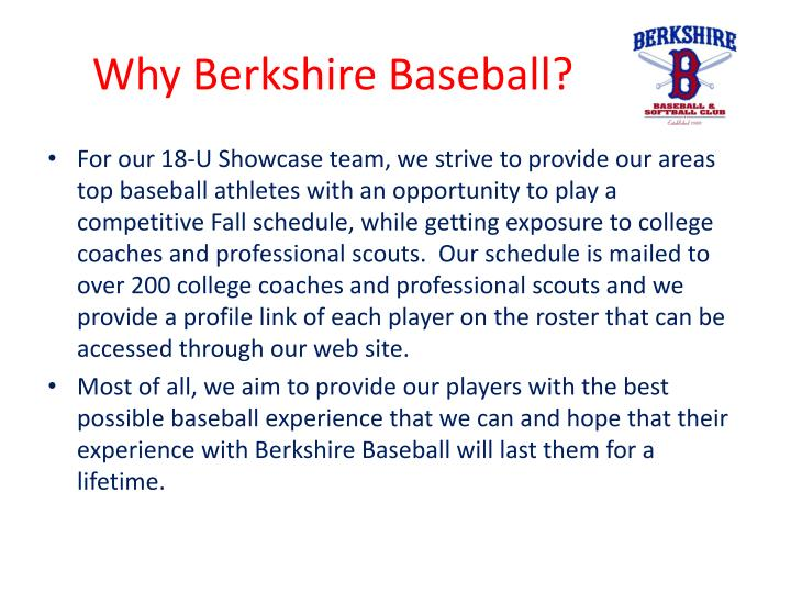 Why Berkshire Baseball?