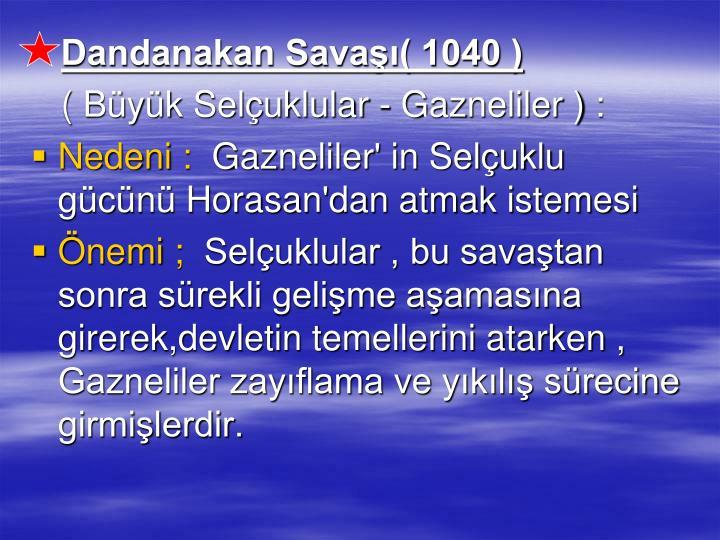 Dandanakan Sava( 1040 )