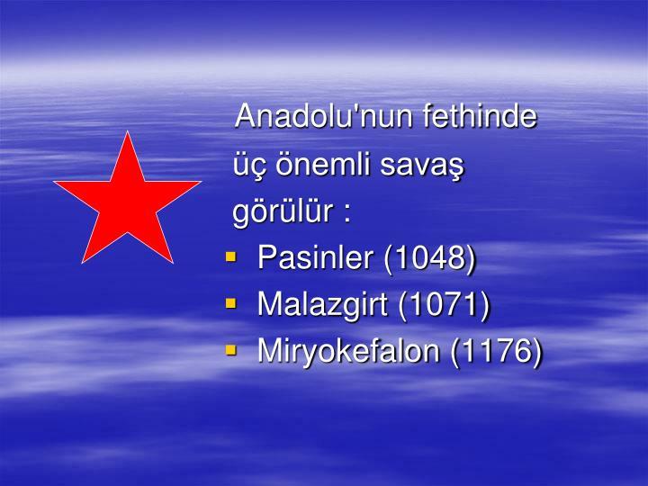 Anadolu'nun fethinde