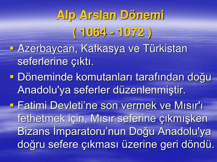 Alp Arslan Dnemi