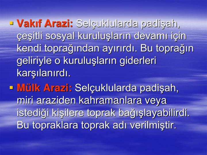 Vakf Arazi: