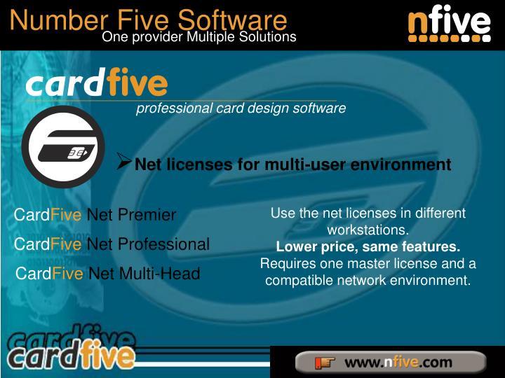 Net licenses for multi-user environment