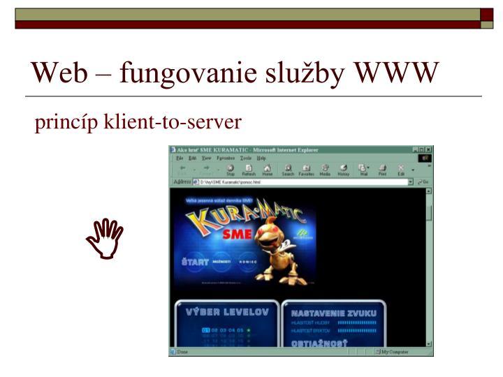 Web – fungovanie služby WWW