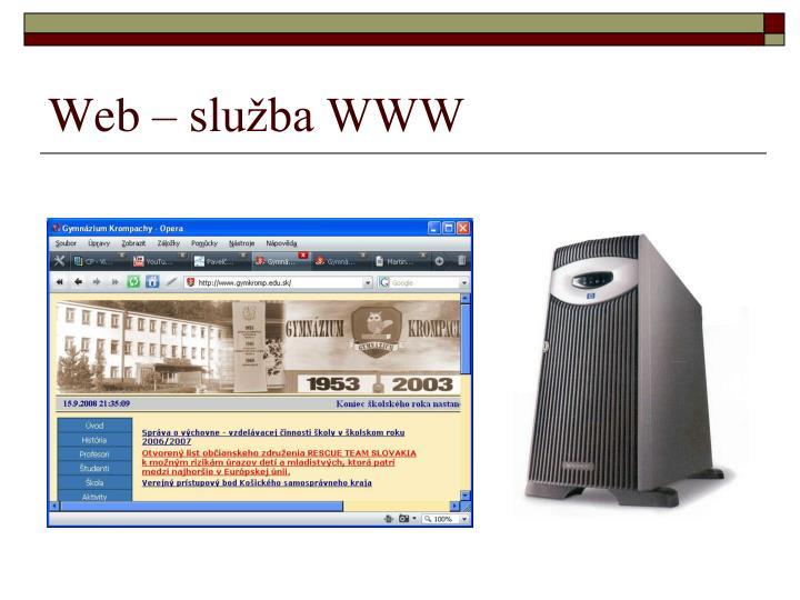 Web – služba WWW