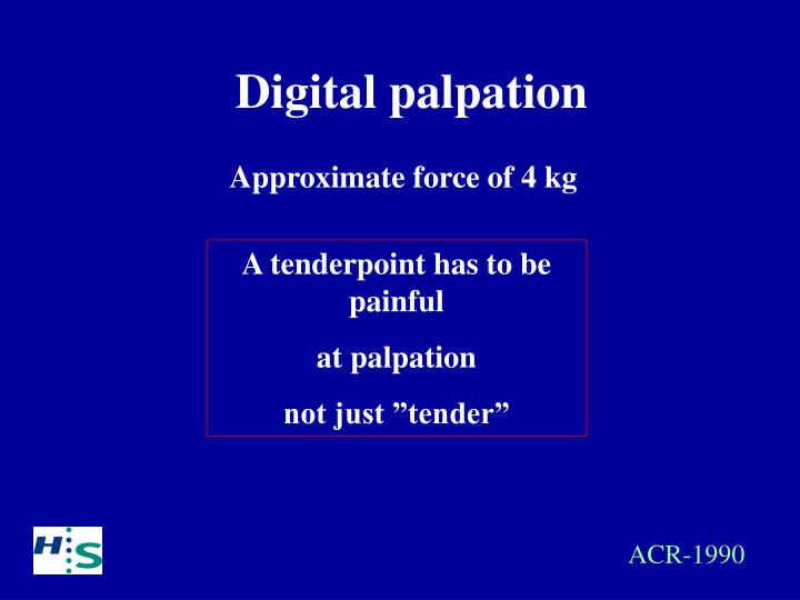 Digital palpation